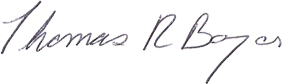 Tom Boyer's Signature