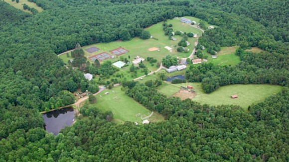 Aerial photo of Camp Sandy Cove