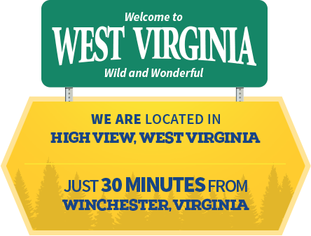 We are located in High View, West Virginia